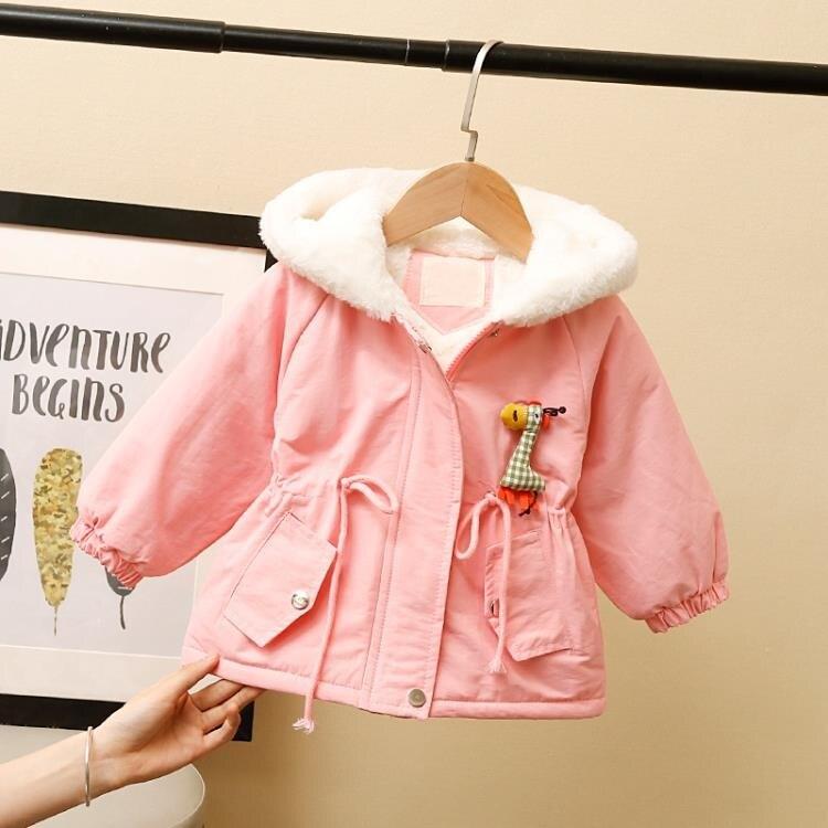 女童棉服 女寶寶冬裝外套新款洋氣兒童加絨女童加厚小童公主棉衣派克服