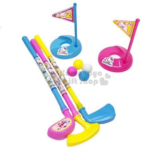 小禮堂 Hello Kitty 高爾夫球玩具組《粉.旗子》適合3歲以上孩童.沙灘玩具