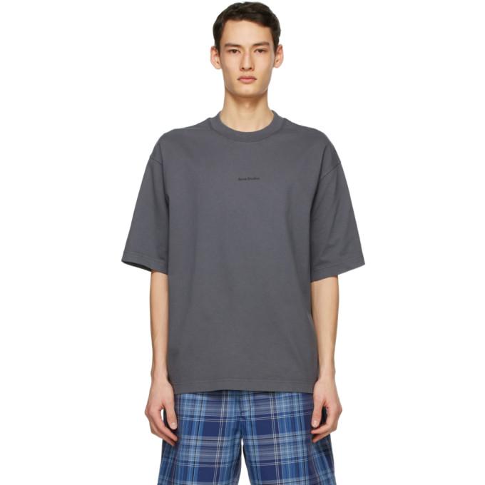 Acne Studios 灰色徽标 T 恤
