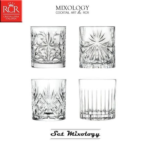 【南紡購物中心】【義大利RCR】MIXOLOGY SET 經典酒杯4件組(威士忌杯/烈酒杯/飲料杯)