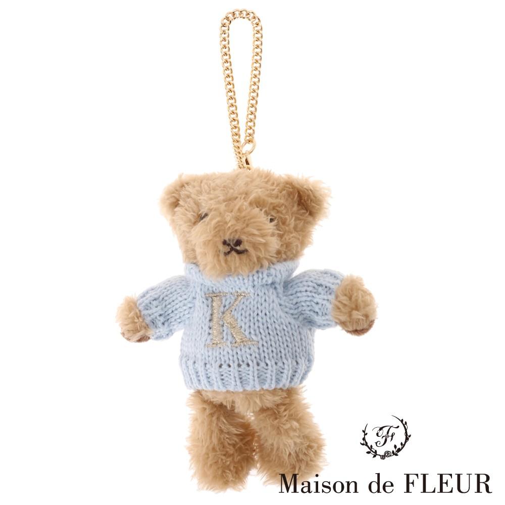 Maison de FLEUR 可愛小熊K字母刺繡吊飾(8A04FBJ0900)