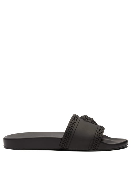 Versace - Medusa Rubber Pool Slides - Mens - Black