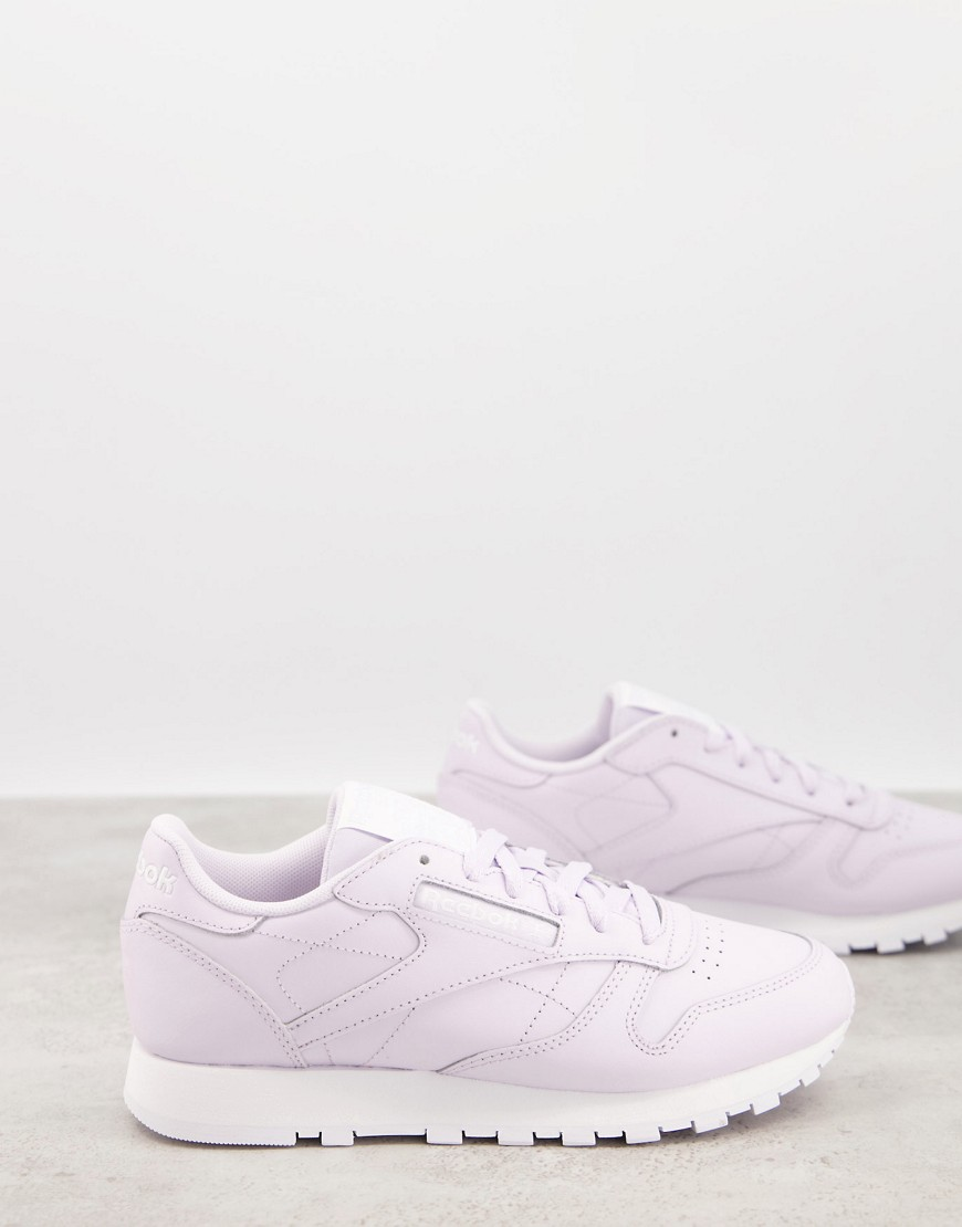 Reebok Classic Leather trainers in lilac-Purple