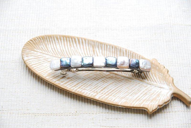 方形珍珠髮夾