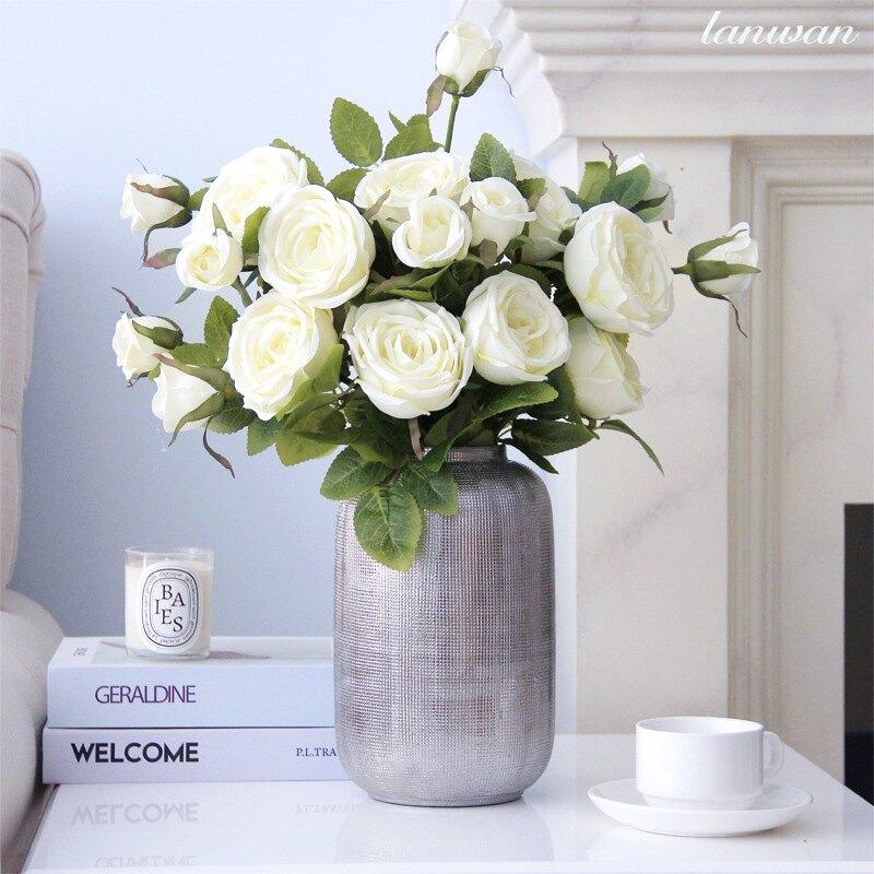 歐式單支玫瑰花 仿真花 室內裝飾仿真花束