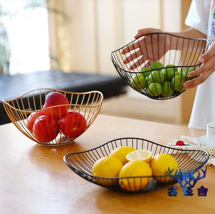 鐵藝水果盤北歐輕奢簡約家用客廳零食盤