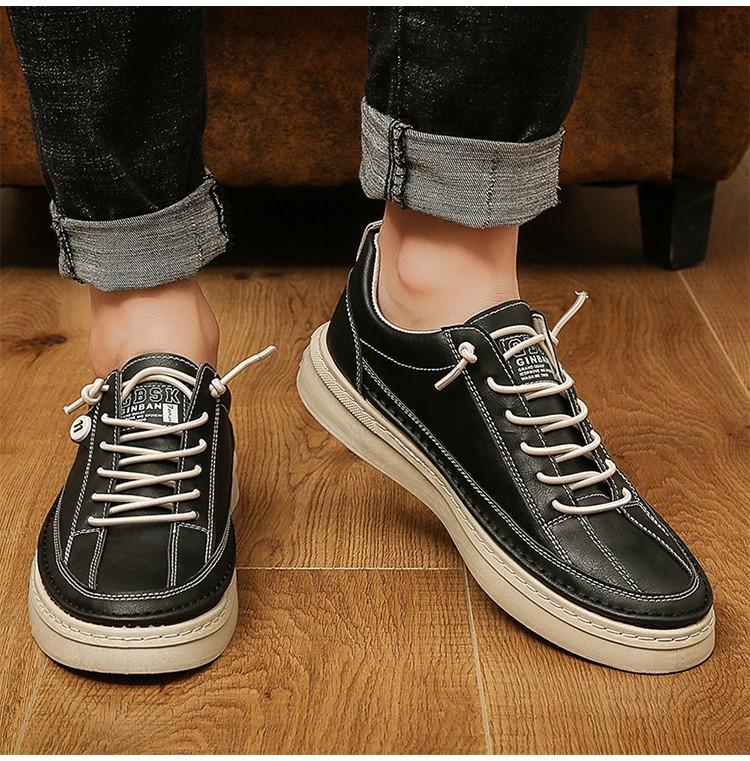 韓版男鞋休閒百搭舒適款學生青少年耐磨潮流板鞋
