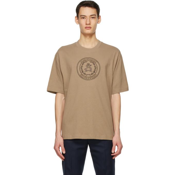 Acne Studios 黄褐色刺绣 T 恤