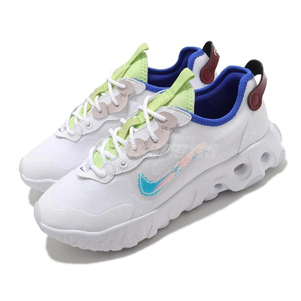 Nike 慢跑鞋 React Art3mis SE 白 彩色 七彩 炫光 女鞋 運動休閒鞋【ACS】 CV8485-100