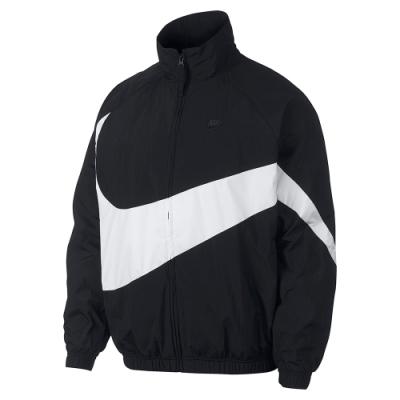 NIKE 外套 運動外套 慢跑 健身 男款 黑白 AR3133-010 AS M NSW HBR JKT WVN STMT