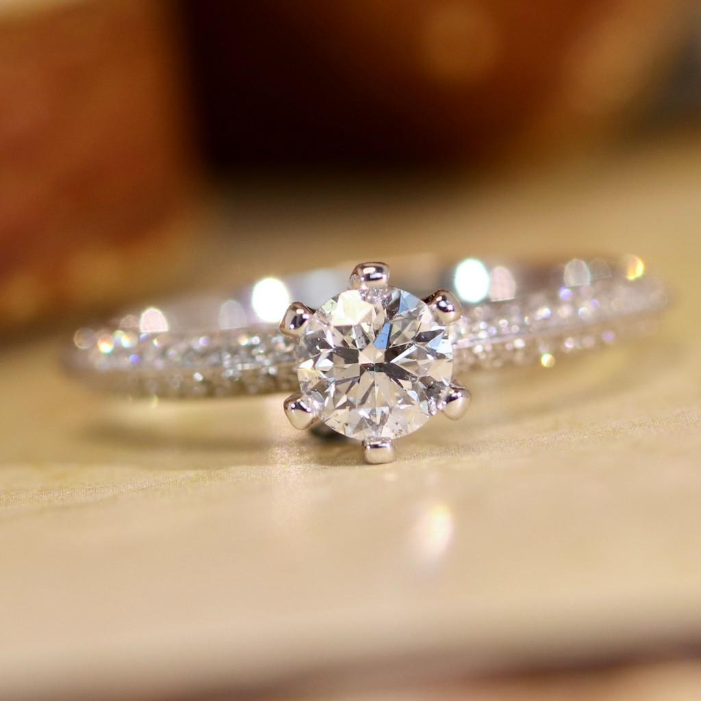 璽朵珠寶 [ 18K金 50分 六爪 鑽石 戒指 ] 微鑲工藝 精品設計 鑽石權威 婚戒顧問 婚戒第一品牌 鑽戒 GIA