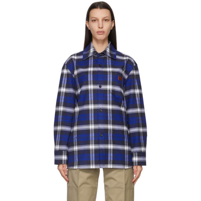 Acne Studios 蓝色格纹夹克衬衫