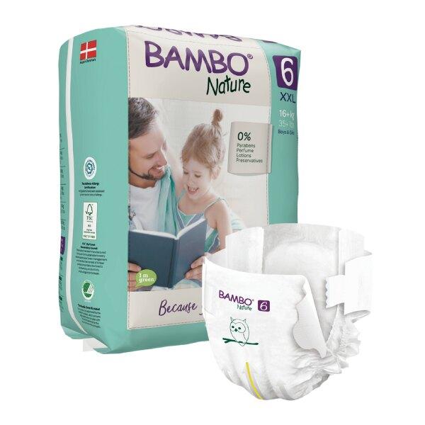 BAMBO 伴寶樂 嬰兒紙尿褲-自然風 6號 16kg以上 (20片/6包/箱)【杏一】