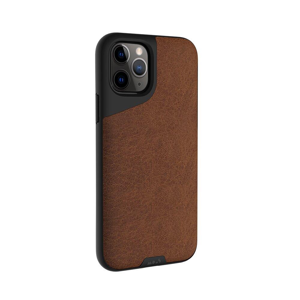 【Mous】iPhone 11 Pro 5.8吋 Contour 天然材質防摔保護殼-摩卡皮革