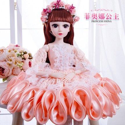 芭比娃娃 60厘米cm大號超大籬芭比比洋娃娃套裝女孩公主兒童玩具單個仿真布T【全館免運 限時鉅惠】