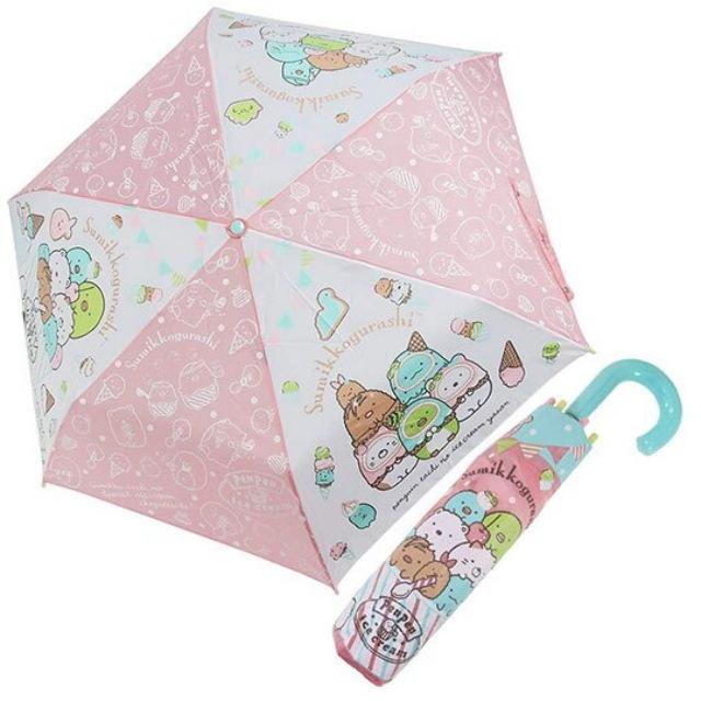 小禮堂 角落生物 彎把防風傘骨折疊傘《粉綠.冰淇淋》折傘.雨具.雨傘
