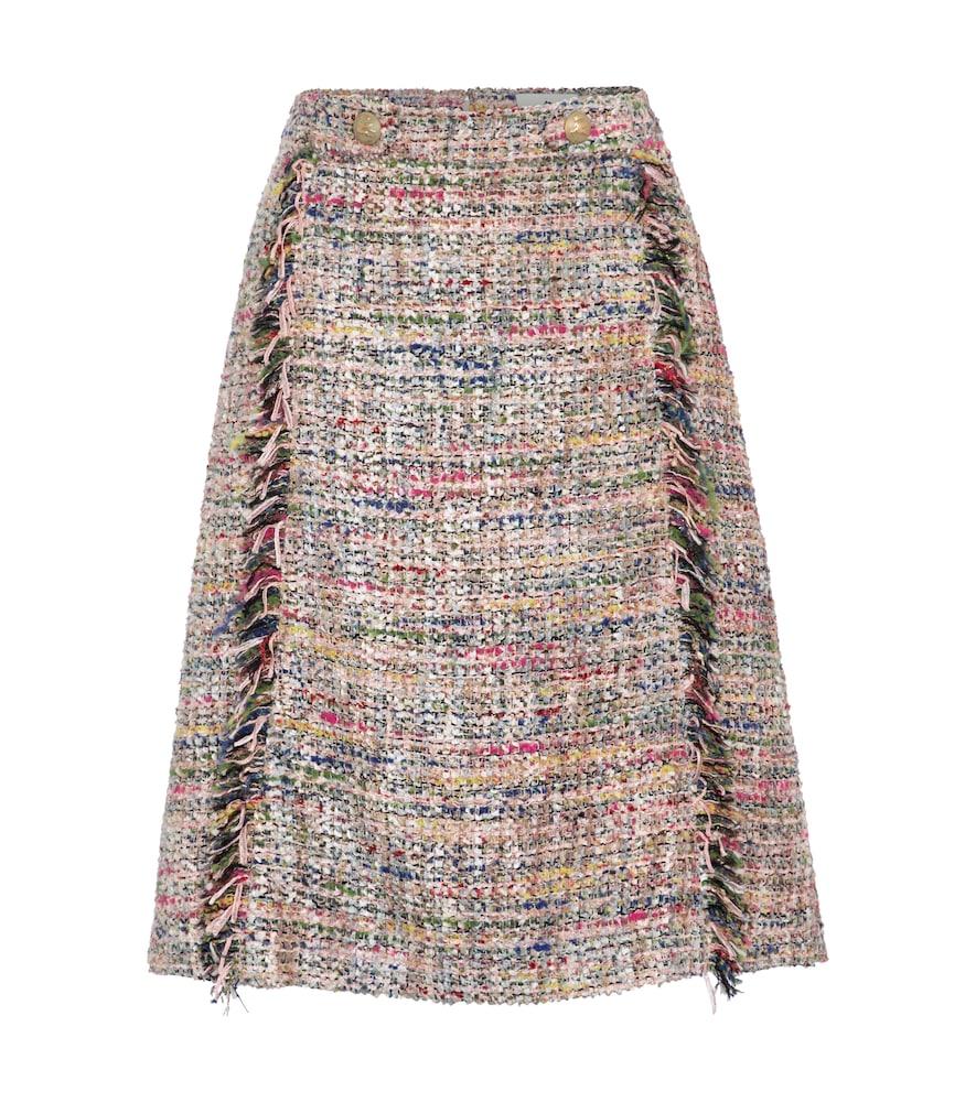 Tweed jacquard miniskirt