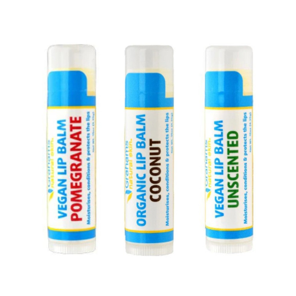 【澳洲珂然】有機植萃護唇膏 無香味4.25g、石榴口味4.25g、椰子口味4.25g