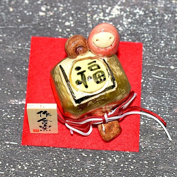 不倒翁與金福槌 陶瓷小物 作舍日本製 5.5cm