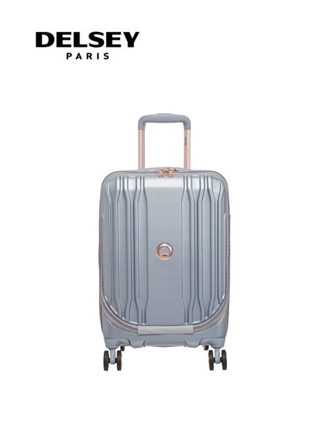 【DELSEY】法國大使 19吋 一九分掀蓋式 ECLIPSE DLX 登機箱/旅行箱-銀色