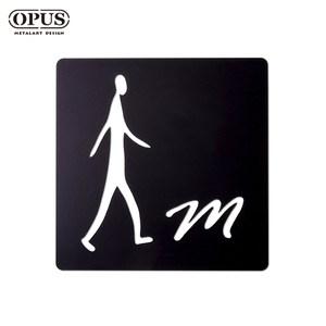 OPUS 歐式鐵藝廁所標示牌/WC洗手間(男生方款/邂逅)黑男生方款 / 鏤空黑