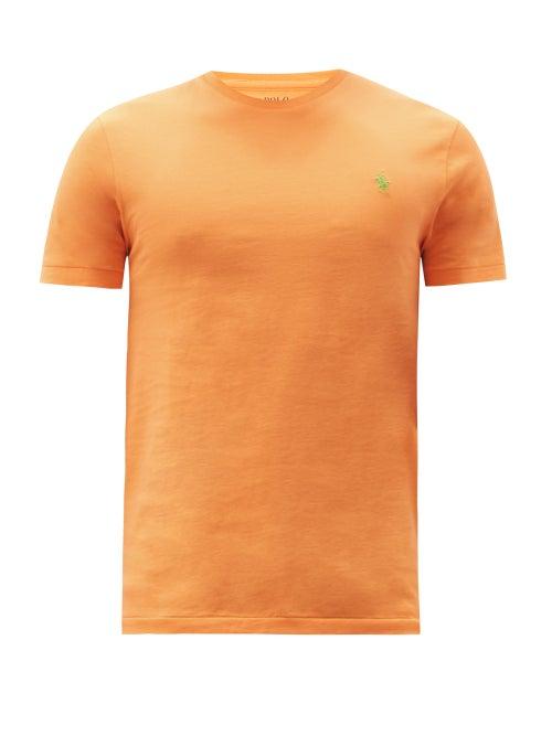 Polo Ralph Lauren - Logo-embroidered Cotton-jersey T-shirt - Mens - Orange