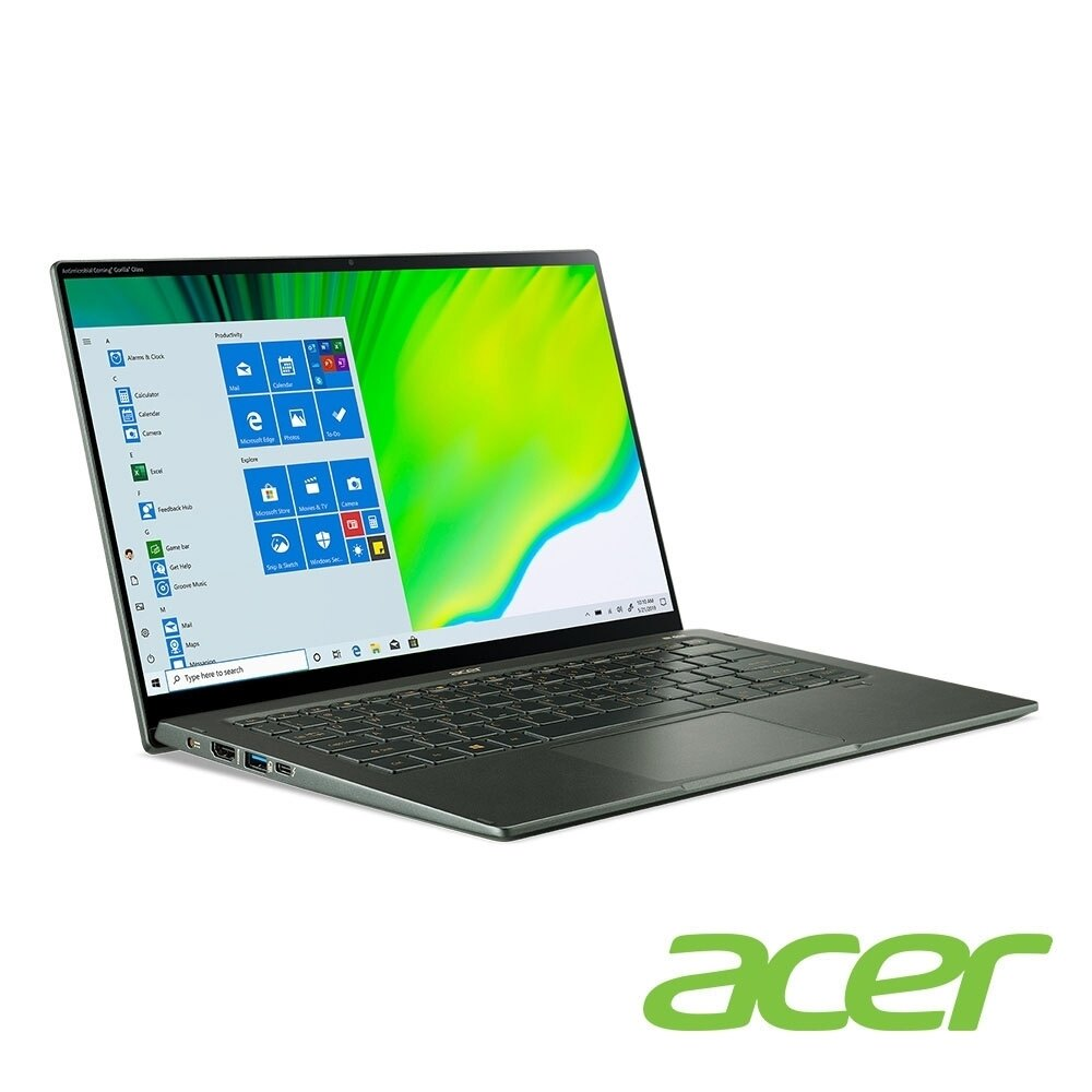 acer Swift5 SF514-55GT-725L 迷霧綠 宏碁獨顯超輕薄觸碰筆電/i7-1165G7/MX350 2G/16G/512G PCIe/14吋觸碰 FHD IPS/W10