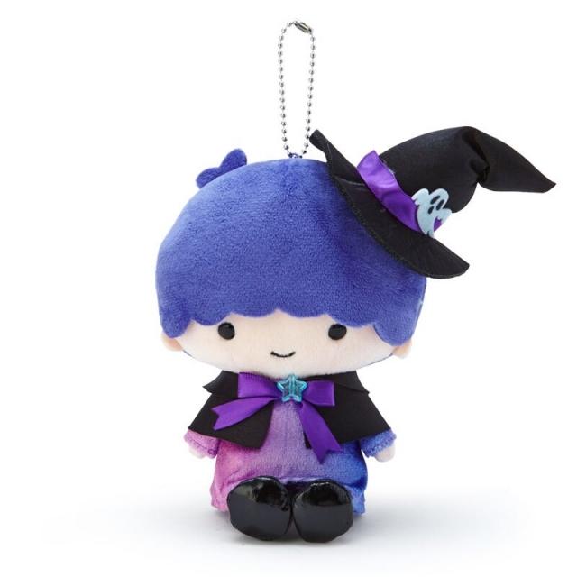 小禮堂 雙子星KIKI 絨毛吊飾 玩偶吊飾 玩偶鑰匙圈 (紫黑 2020萬聖節)