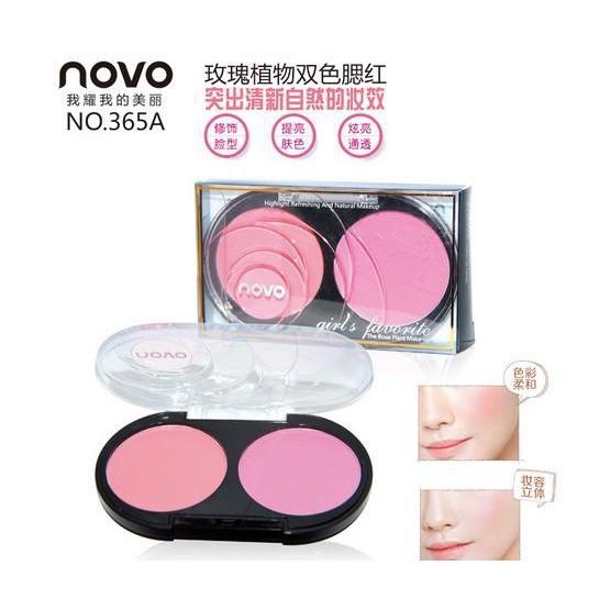 愛莉 NOVO 修飾輪廓提升氣色粉色橘色 玫瑰植物雙色腮紅啞光胭脂 365