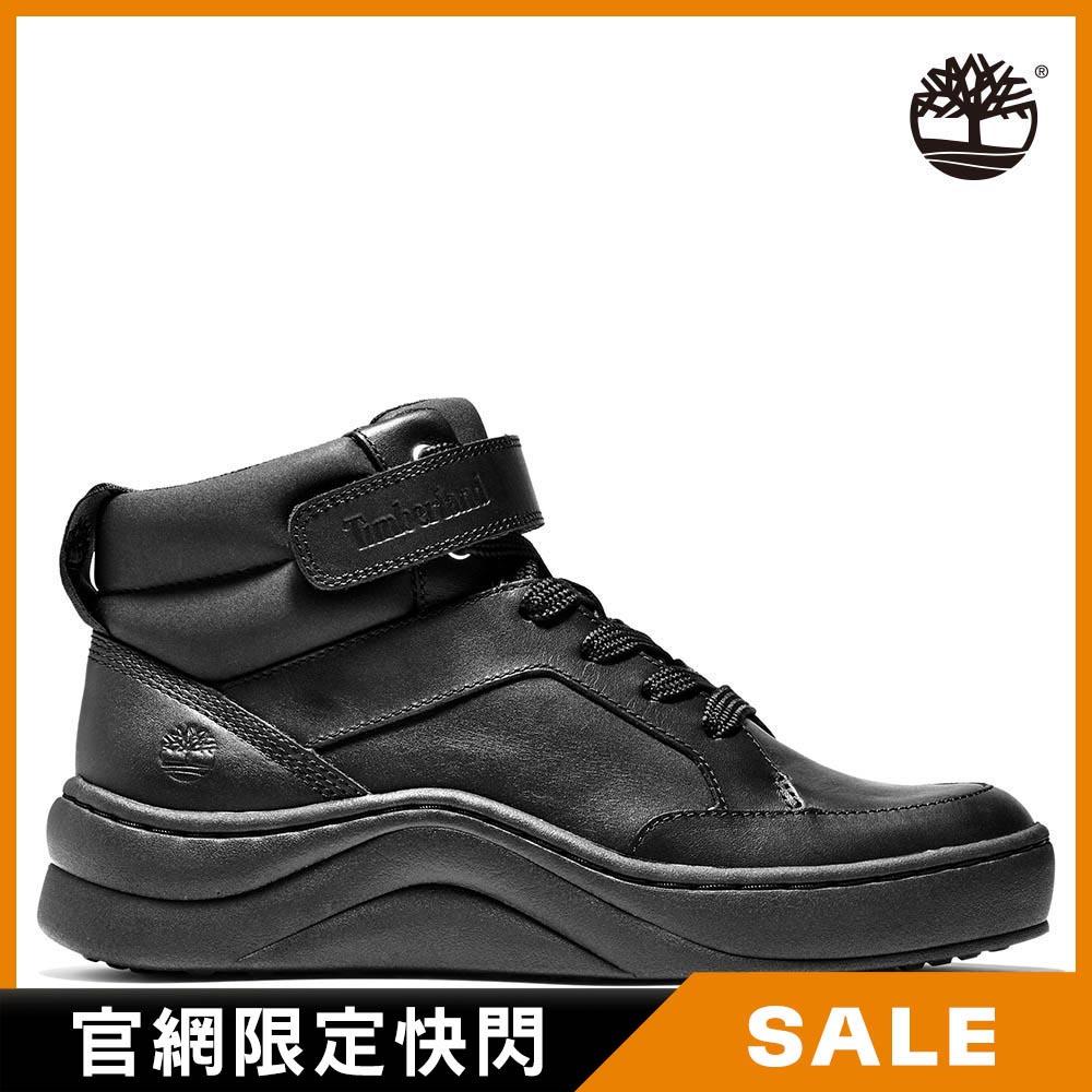 Timberland 女款黑色全粒面中筒運動靴 A21N6001