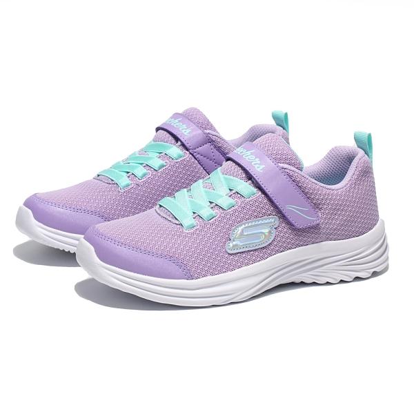 SKECHERS 休閒鞋 DREAMY DANCER 粉紫 網布 鬆緊帶 中童 (布魯克林) 302450LLVAQ