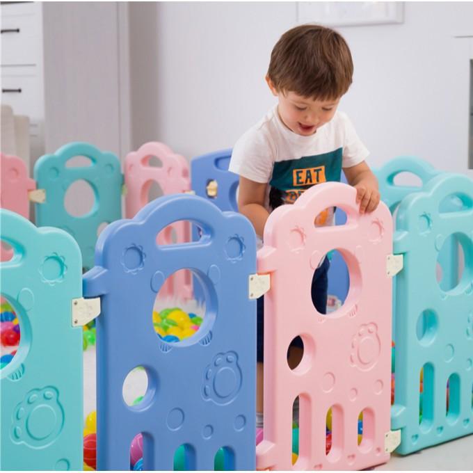 泡泡虎寶寶遊戲圍欄兒童安全柵欄家用學步嬰兒圍擋室內玩具防護欄