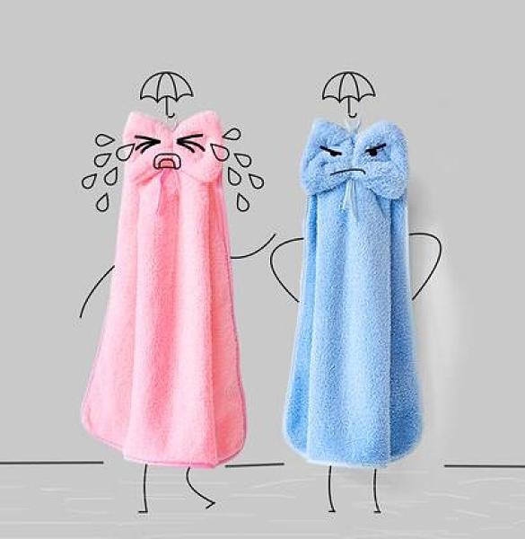 兒童手帕 擦手巾掛式非純棉加厚吸水可愛韓國兒童方毛巾搽手帕卡通家用【快速出貨八折搶購】