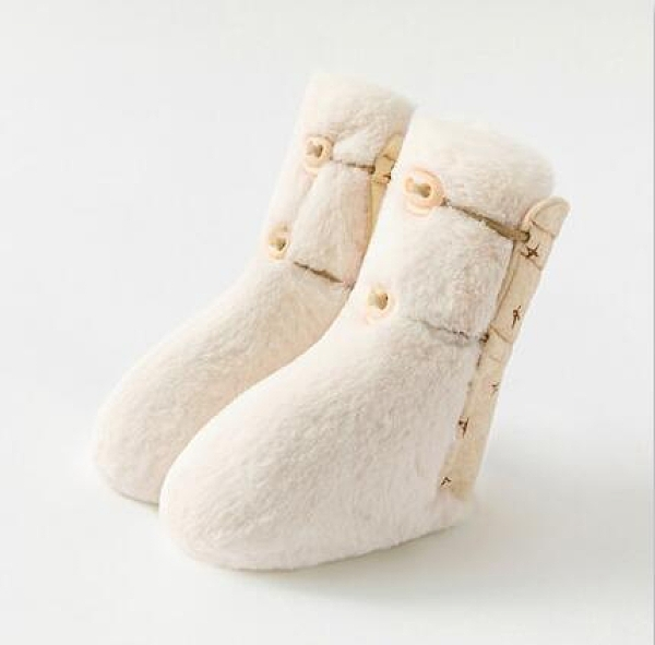 學步鞋 兒冬季加絨鞋子寶寶保暖步前鞋初生防掉軟底學步防滑棉鞋【快速出貨八折下殺】