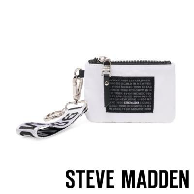 STEVE MADDEN-BRICHIE 時尚潮流款 字母零錢包-黑白