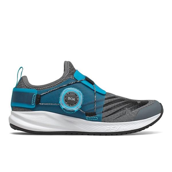 New Balance W 中童藍灰輕量BOA旋鈕緩震慢跑鞋-NO.PKRVLGB2