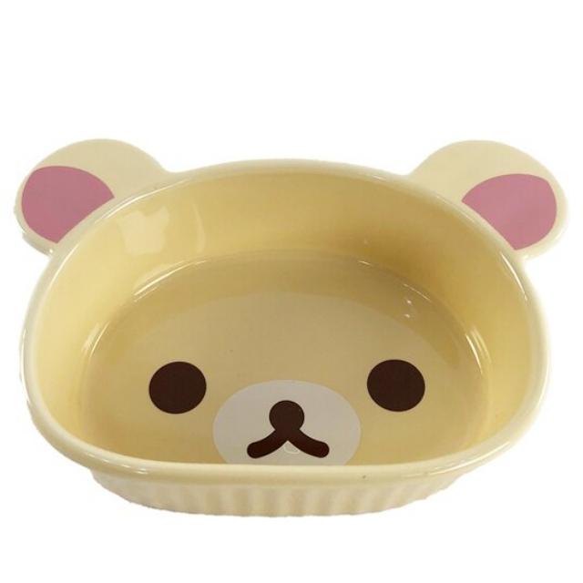 小禮堂 懶懶熊 牛奶熊 大臉造型陶瓷碗 焗烤碗 臉型碗 沙拉碗 火鍋碗 飯碗 (米)