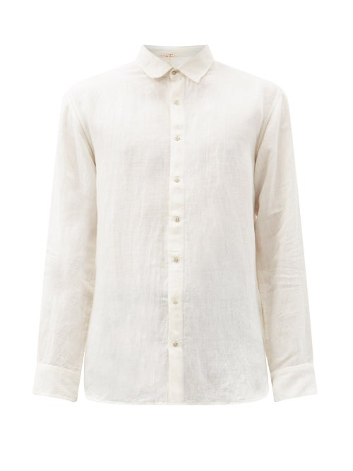 Péro - Linen Shirt - Mens - Cream
