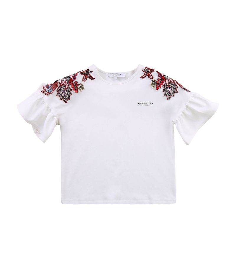 Givenchy Kids Floral-Embroidered T-Shirt (4-14 Years)