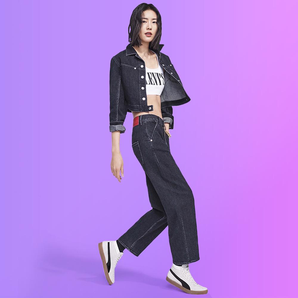 Levis 女款 Balloon 時髦高腰繭型褲 / LEJ energy 3D褲 / Orta歐洲丹寧 / 及踝款-熱銷單品