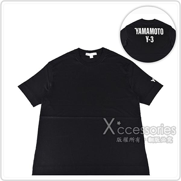 Y-3 U CH2 GFX SS白字印花LOGO棉質短T(黑x後白字)