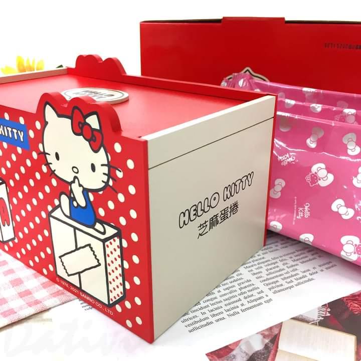 現貨 Q豆手創坊 Hello Kitty芝麻蛋捲夢幻禮盒 喜年來蛋捲 蛋奶素 年節送禮最佳好禮