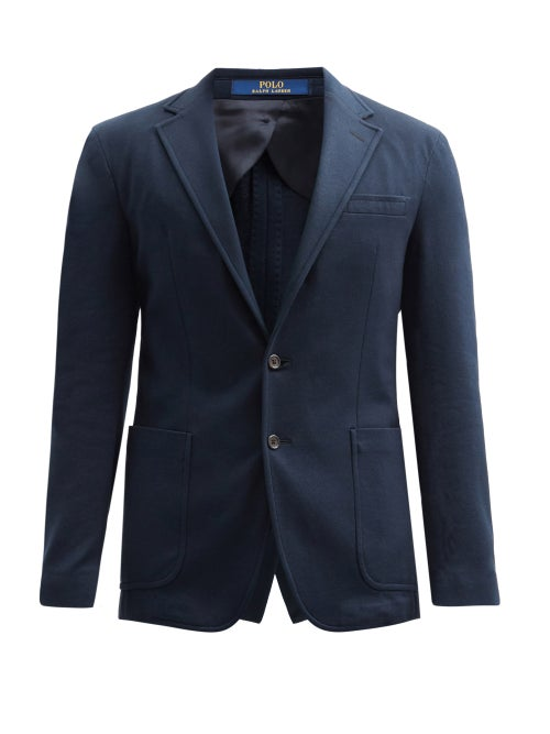 Polo Ralph Lauren - Single-breasted Cotton-blend Piqué Blazer - Mens - Navy