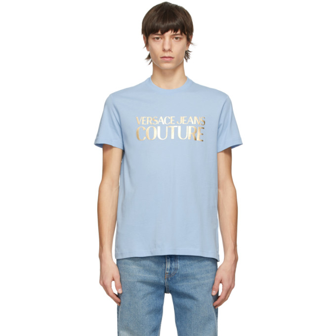 Versace Jeans Couture 蓝色 Foil Logo T 恤