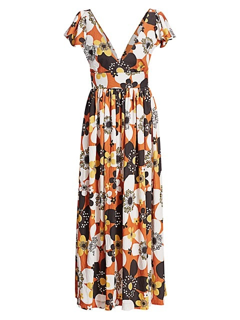 Jenny Long Floral Dress