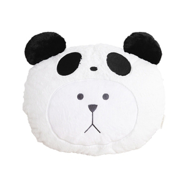 CRAFTHOLIC 宇宙人 黑熊貓熊熊造型靠枕