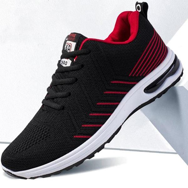 運動鞋 2021秋季新款男鞋透氣運動跑步鞋飛織學生韓版網面鞋百搭潮流布鞋 夢藝