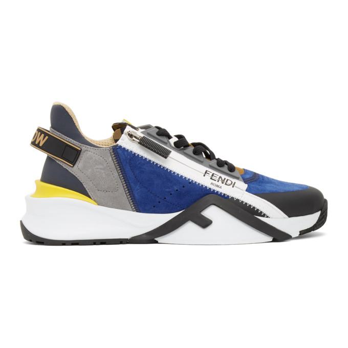 Fendi 多色 Flow 绒面革运动鞋