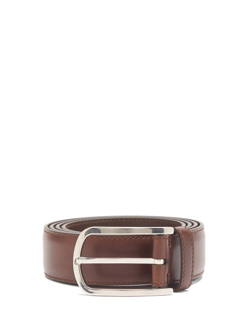 Brunello Cucinelli - Leather Belt - Mens - Brown