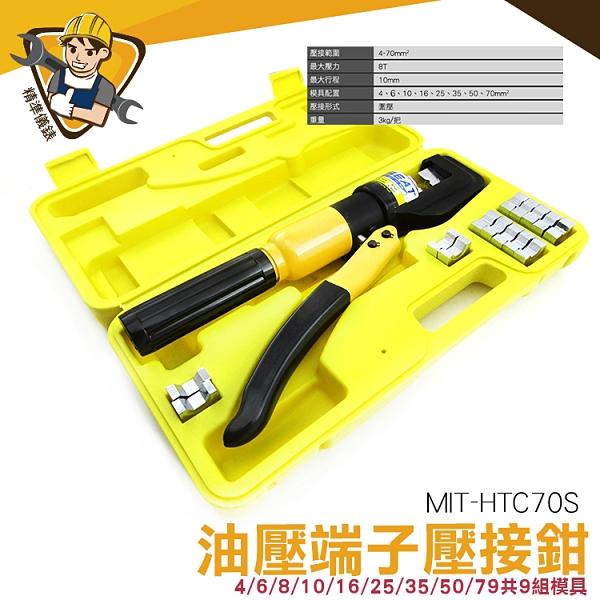 【精準儀錶】壓線鉗 MIT-HTC70S 液壓壓線鉗 銅鋁端子 快速模具 液壓鉗 鋼絲繩扣 鋁/銅線